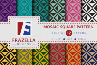 Download Free Mosaic Squares Digital Paper Collection Graphic By Frazella for Cricut Explore, Silhouette and other cutting machines.