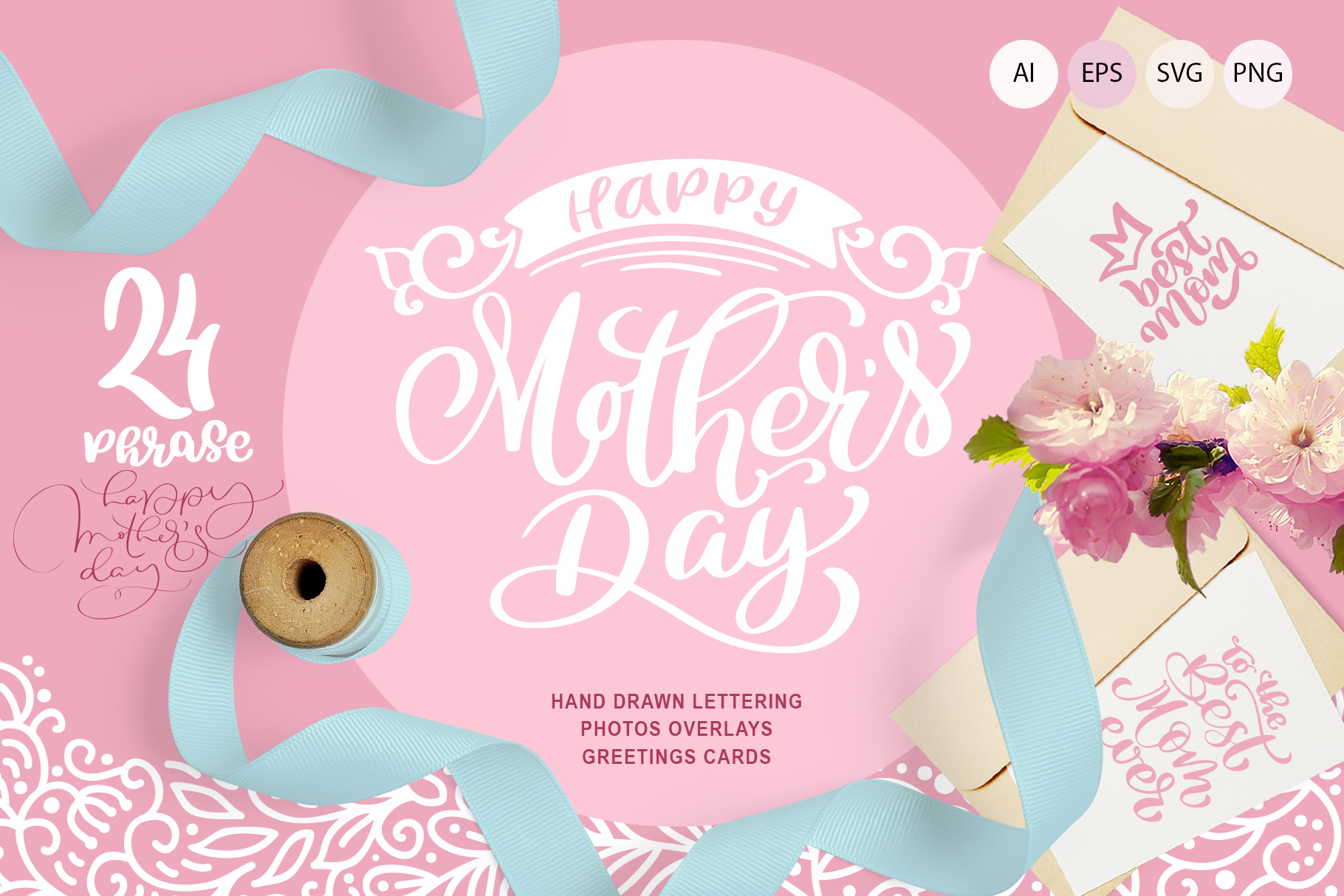 Download Free Mother S Day Greetings Graphic By Happy Letters Creative Fabrica for Cricut Explore, Silhouette and other cutting machines.