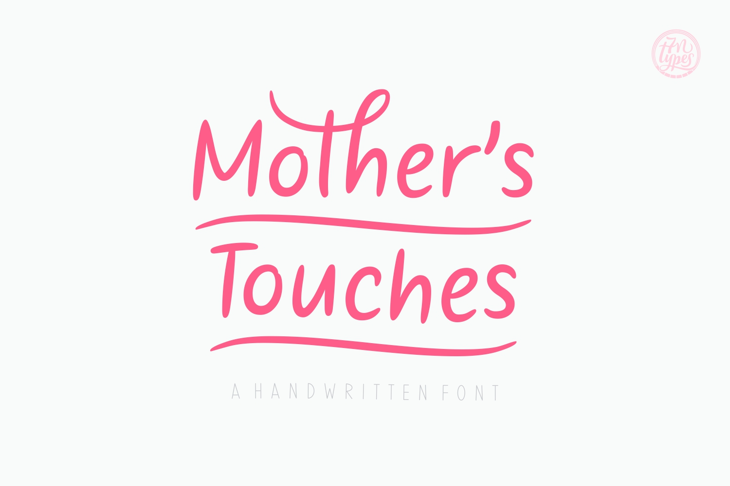 Mother's Touches Script & Handwritten Font By Situjuh