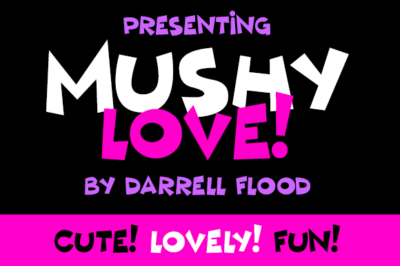 Print on Demand: Mushy Love Display Font By Dadiomouse