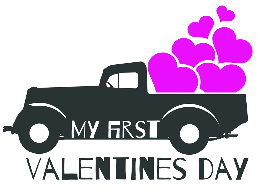 My First Valentines Day Svg Cut File Graphic By Vector City Skyline