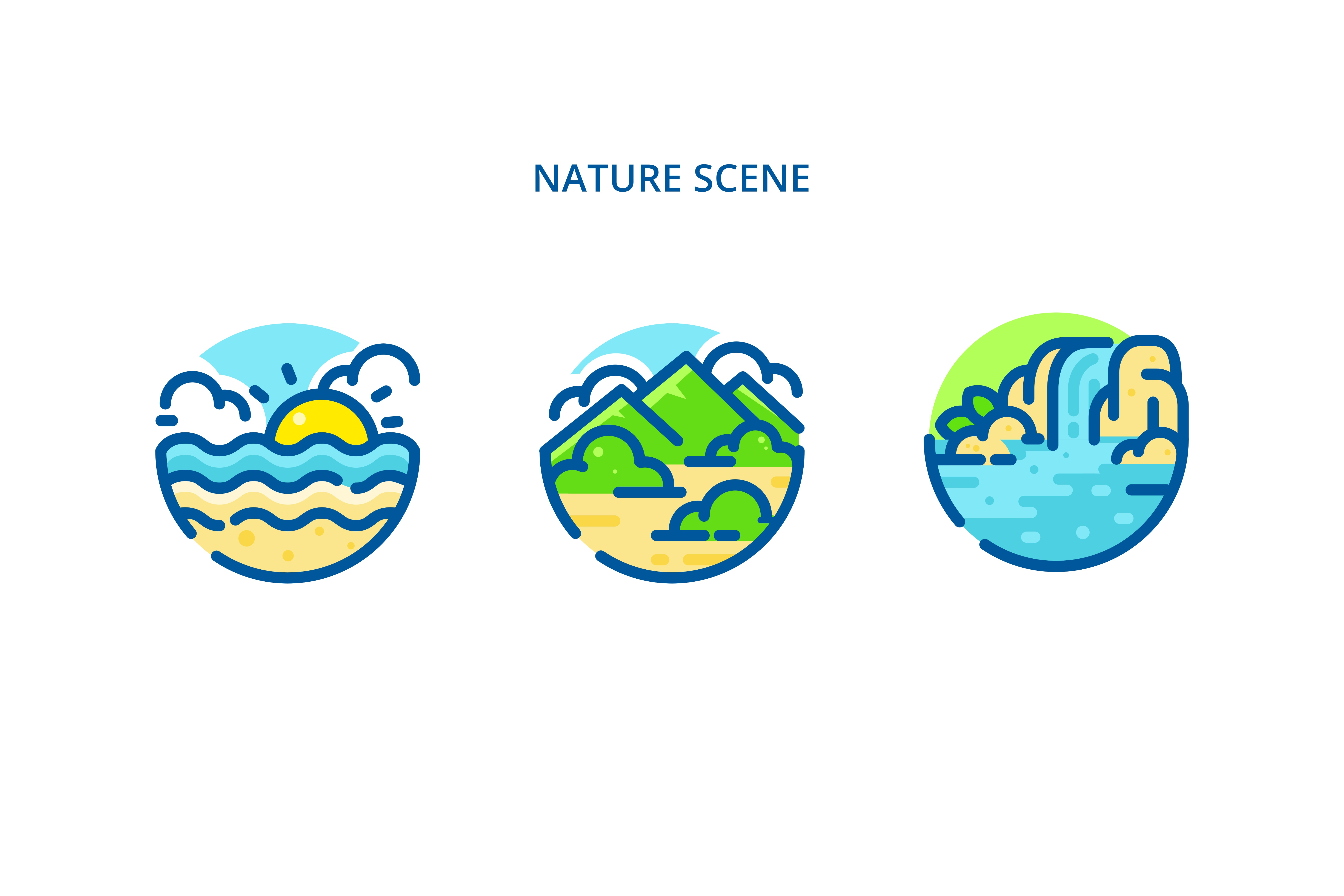 Print on Demand: Nature Iconset Graphic Icons By herbanuts