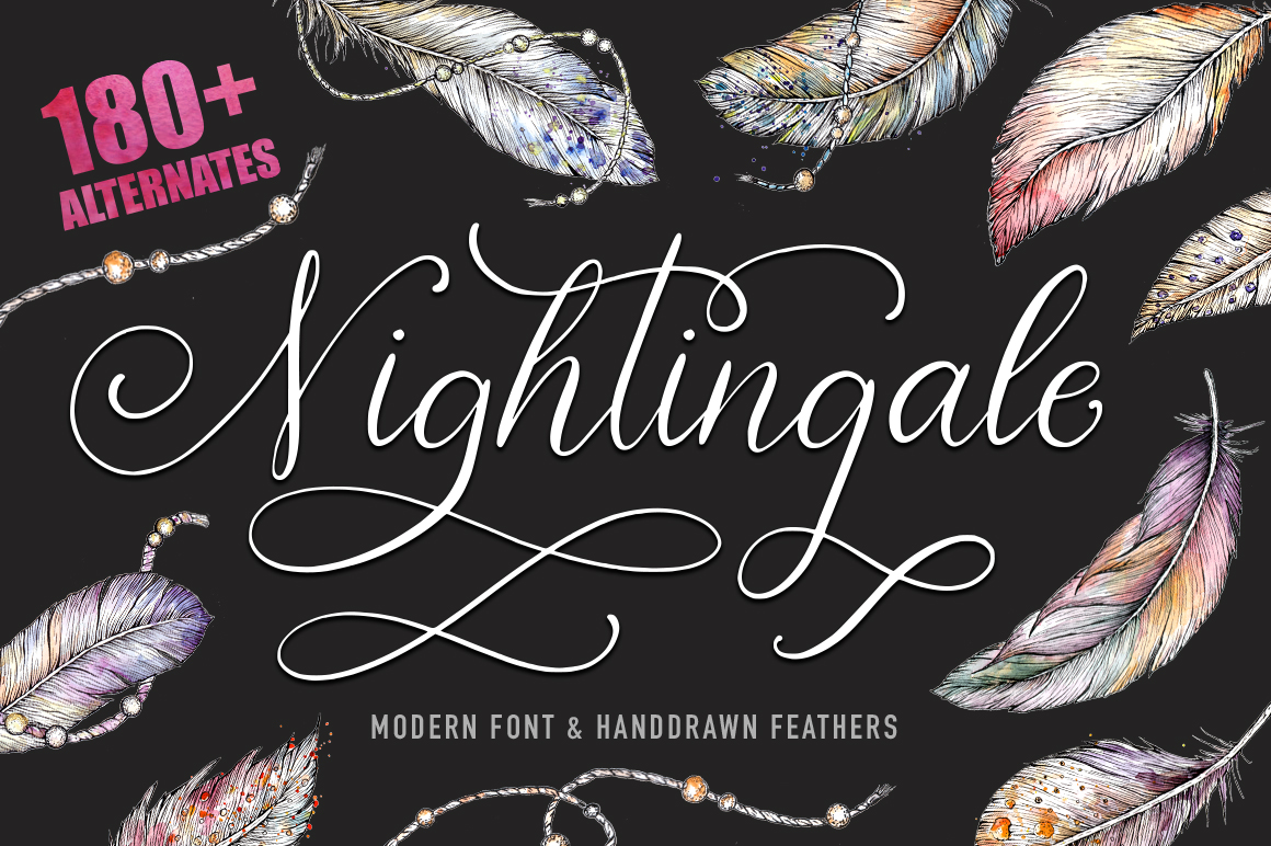 Print on Demand: Nightingale Script Script & Handwritten Font By Red Ink
