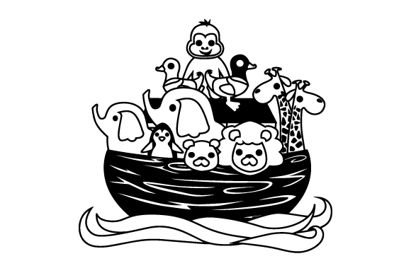 Download Free Noah S Ark Svg Cut File By Creative Fabrica Crafts Creative for Cricut Explore, Silhouette and other cutting machines.