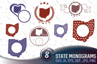 Download Free Ohio State Usa Svg Monograms Graphic By Vector City Skyline for Cricut Explore, Silhouette and other cutting machines.