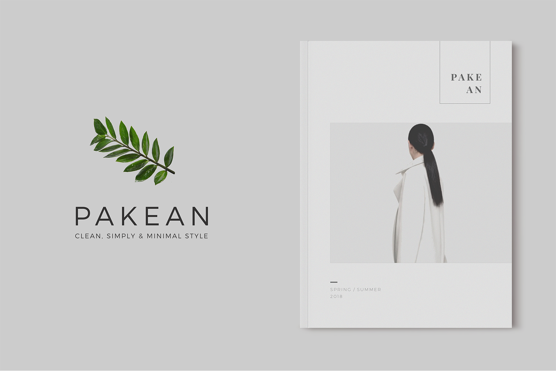Print on Demand: PAKEAN | Minimal Lookbook Magazine Graphic Print Templates By onedsgn