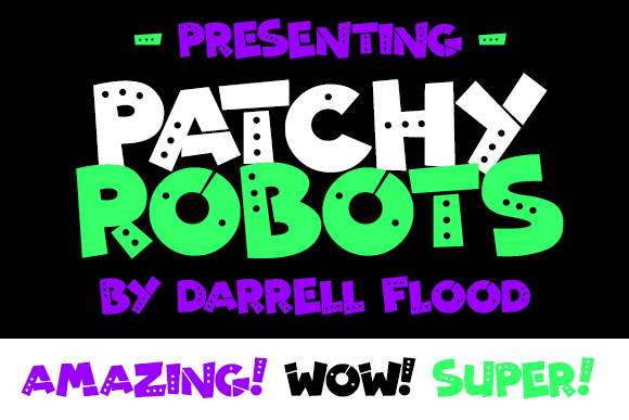 Print on Demand: Patchy Robots Display Font By Dadiomouse
