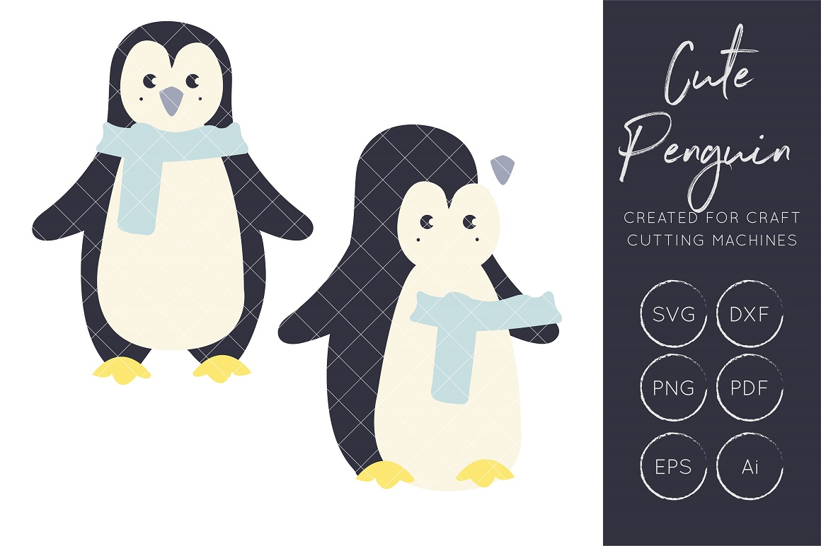 Download Free Penguin Graphic By Illuztrate Creative Fabrica SVG Cut Files