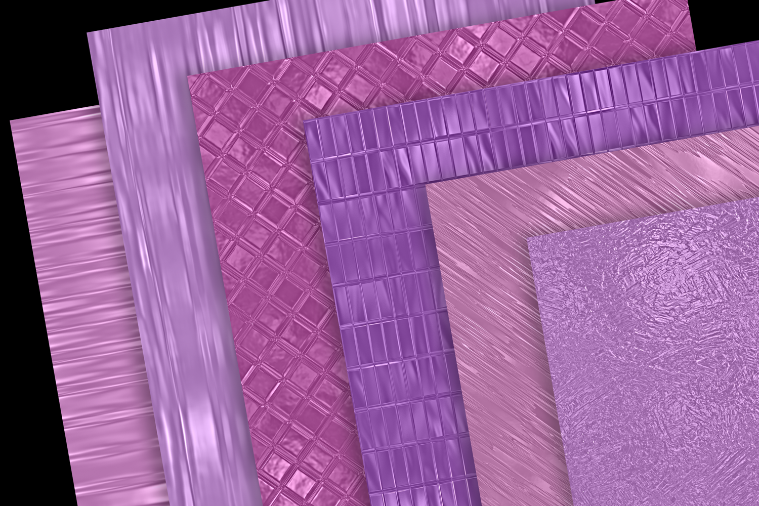 Print on Demand: Pink and Purple Metallics Graphic Textures By JulieCampbellDesigns - Image 3