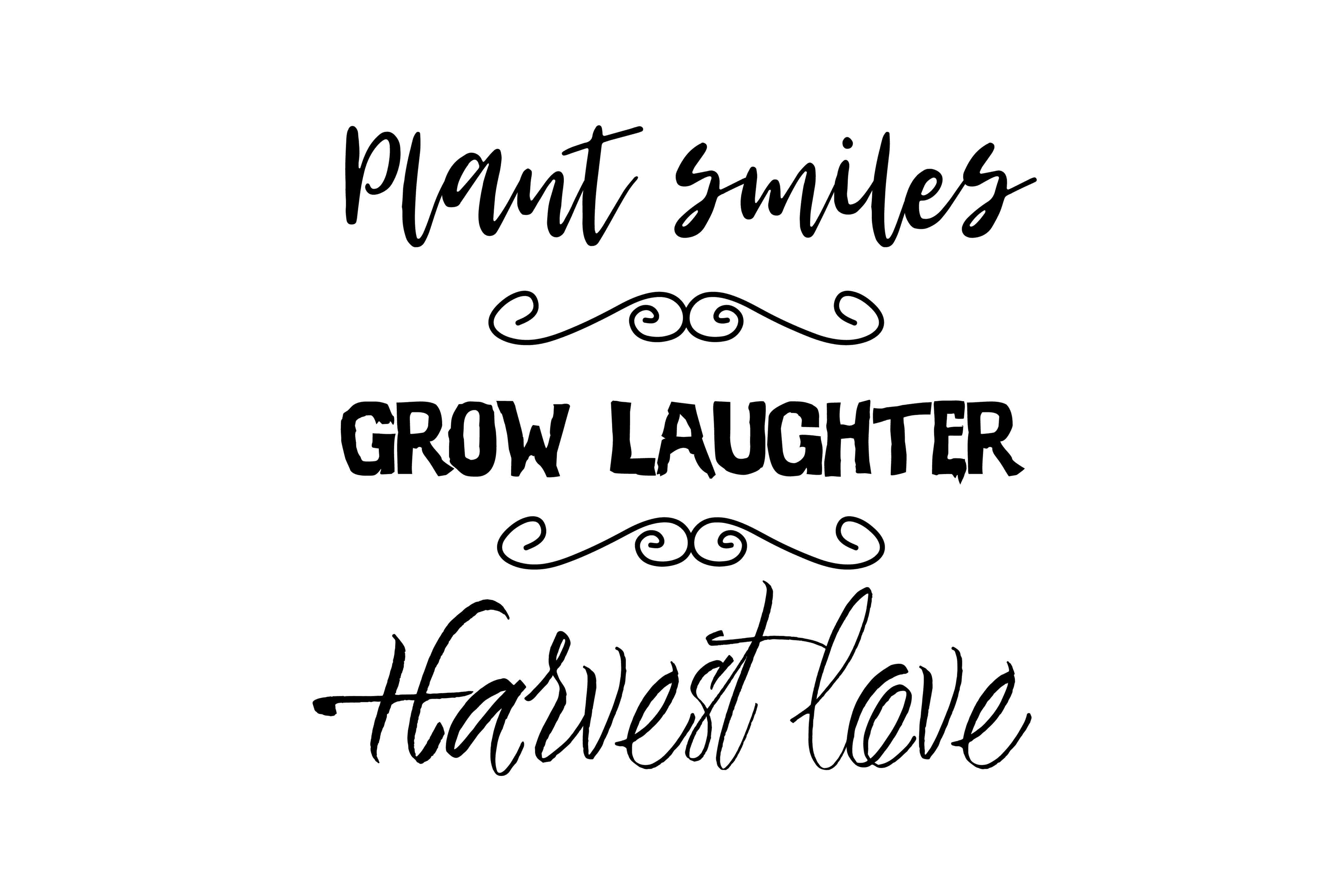 Download Free Plant Smiles Grow Laughter Harvest Love Graphic By Twelvepapers for Cricut Explore, Silhouette and other cutting machines.