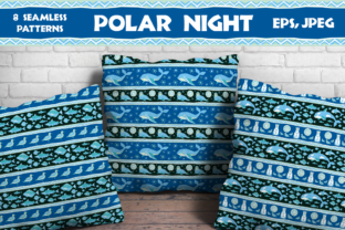 Polar Night. Seamless Patterns in Ethnic Style. Graphic By Olga Belova