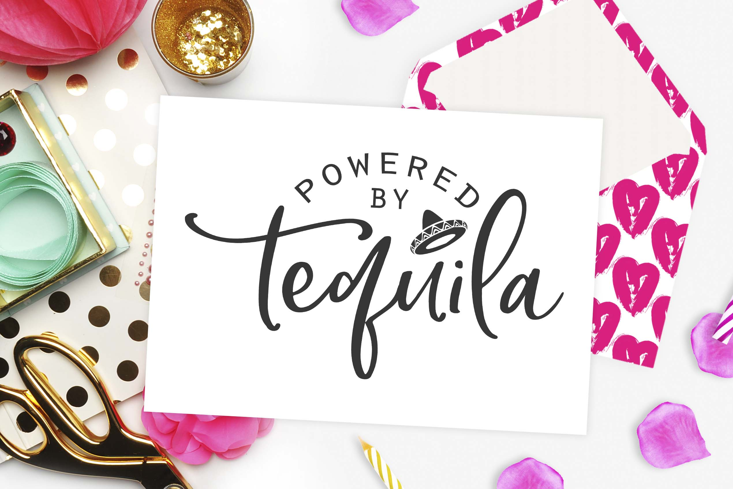 Powered by Tequila Cutting File Graphic Crafts By TheBlackCatPrints