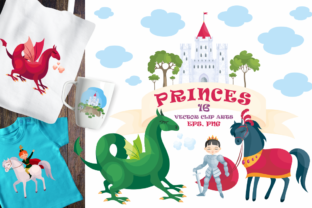 Print on Demand: Princes Vector Clip Art Illustrations Graphic Illustrations By Olga Belova