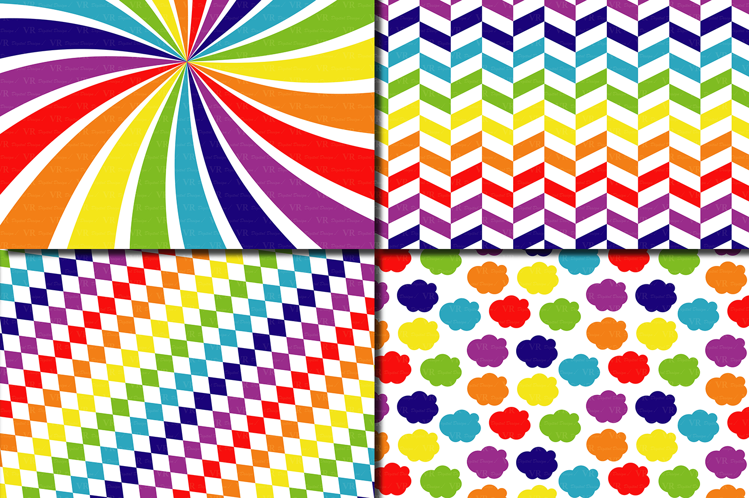 Download Free Rainbow Digital Paper Pack Multicolored Scrapbooking Papers for Cricut Explore, Silhouette and other cutting machines.