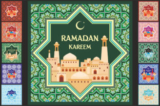 Download Free Ramadan Greeting Cards Set Graphic By Olga Belova Creative Fabrica for Cricut Explore, Silhouette and other cutting machines.