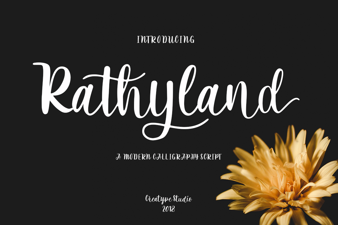 Print on Demand: Rathyland Script & Handwritten Font By CreatypeStudio