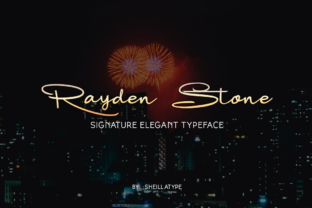 Rayden Stone Font By victoriant99