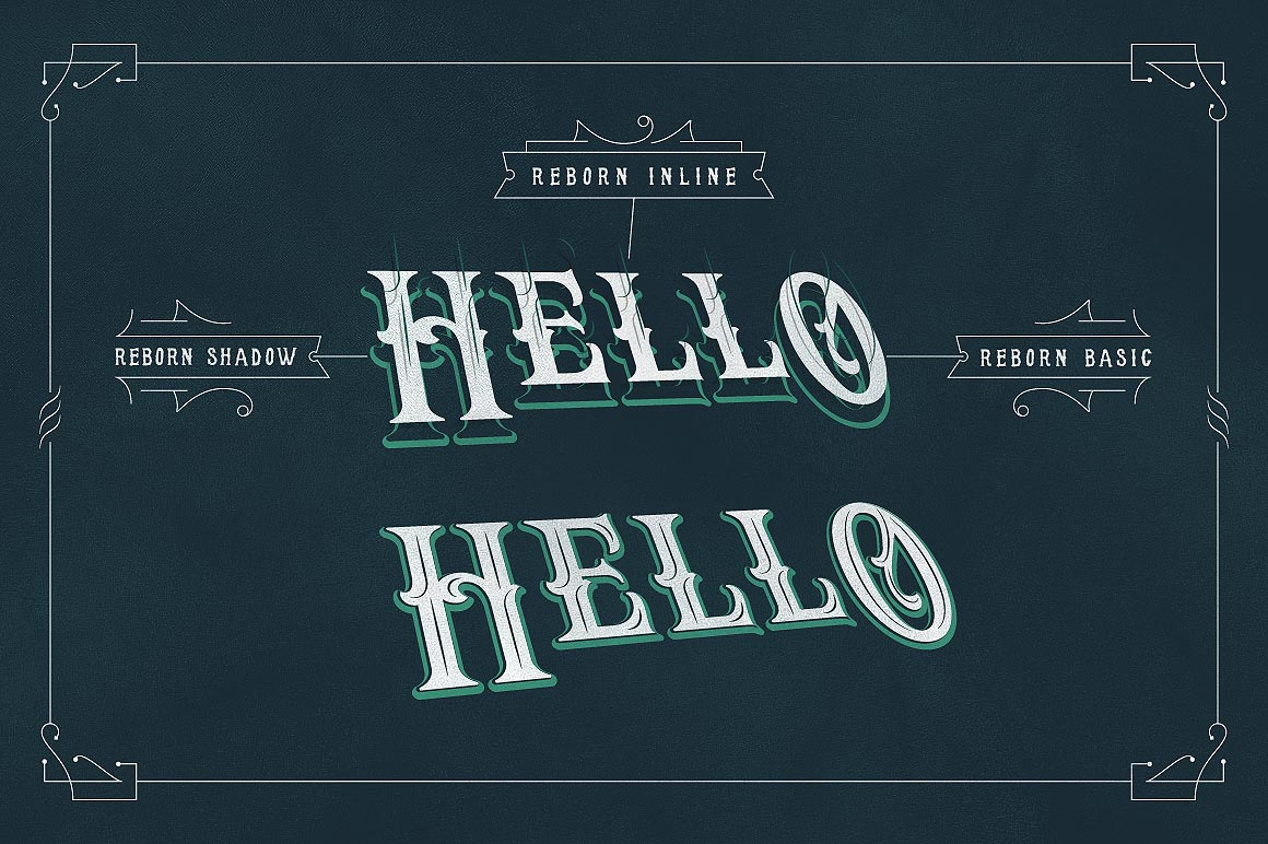 Print on Demand: Reborn Display Font By storictype - Image 2