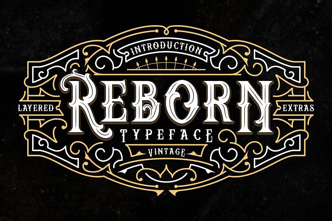 Print on Demand: Reborn Display Font By storictype