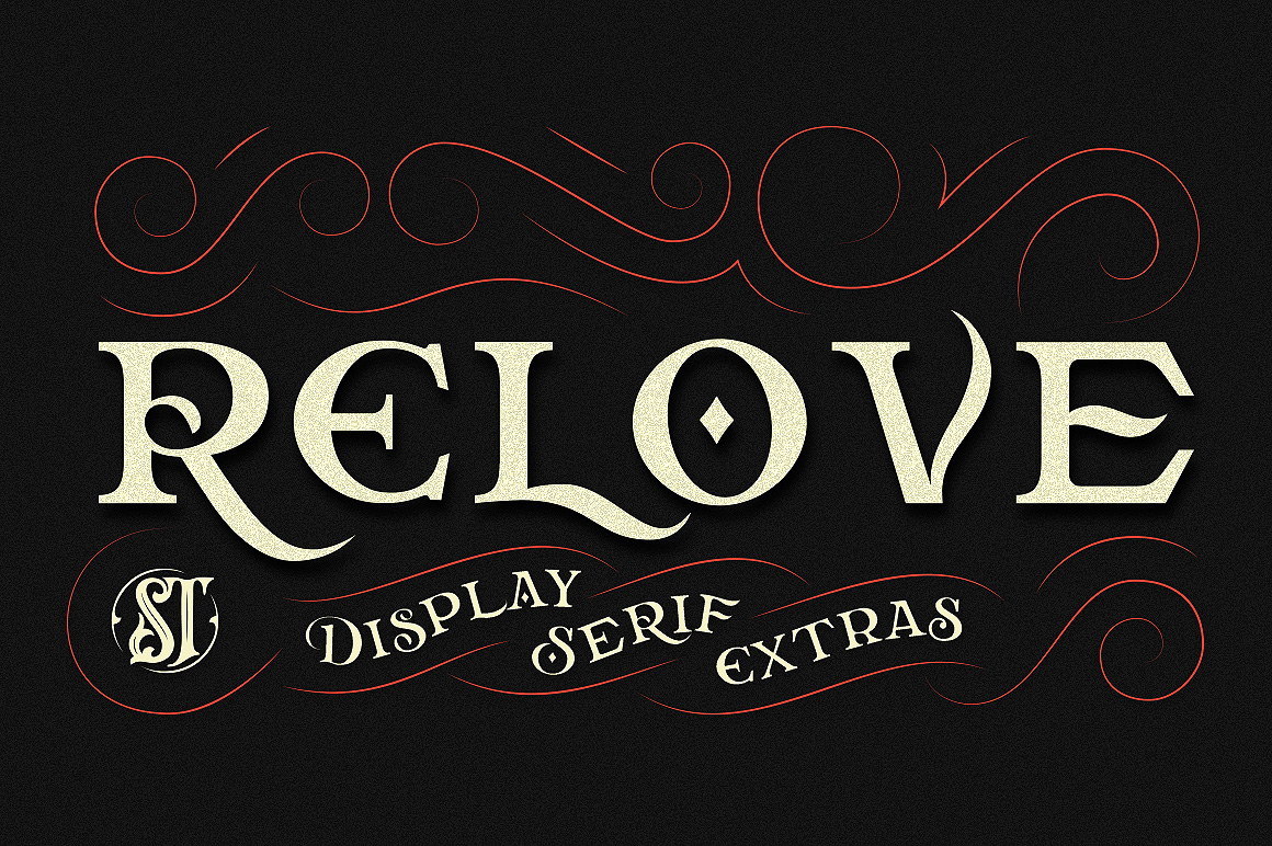 Print on Demand: Relove Display Font By storictype
