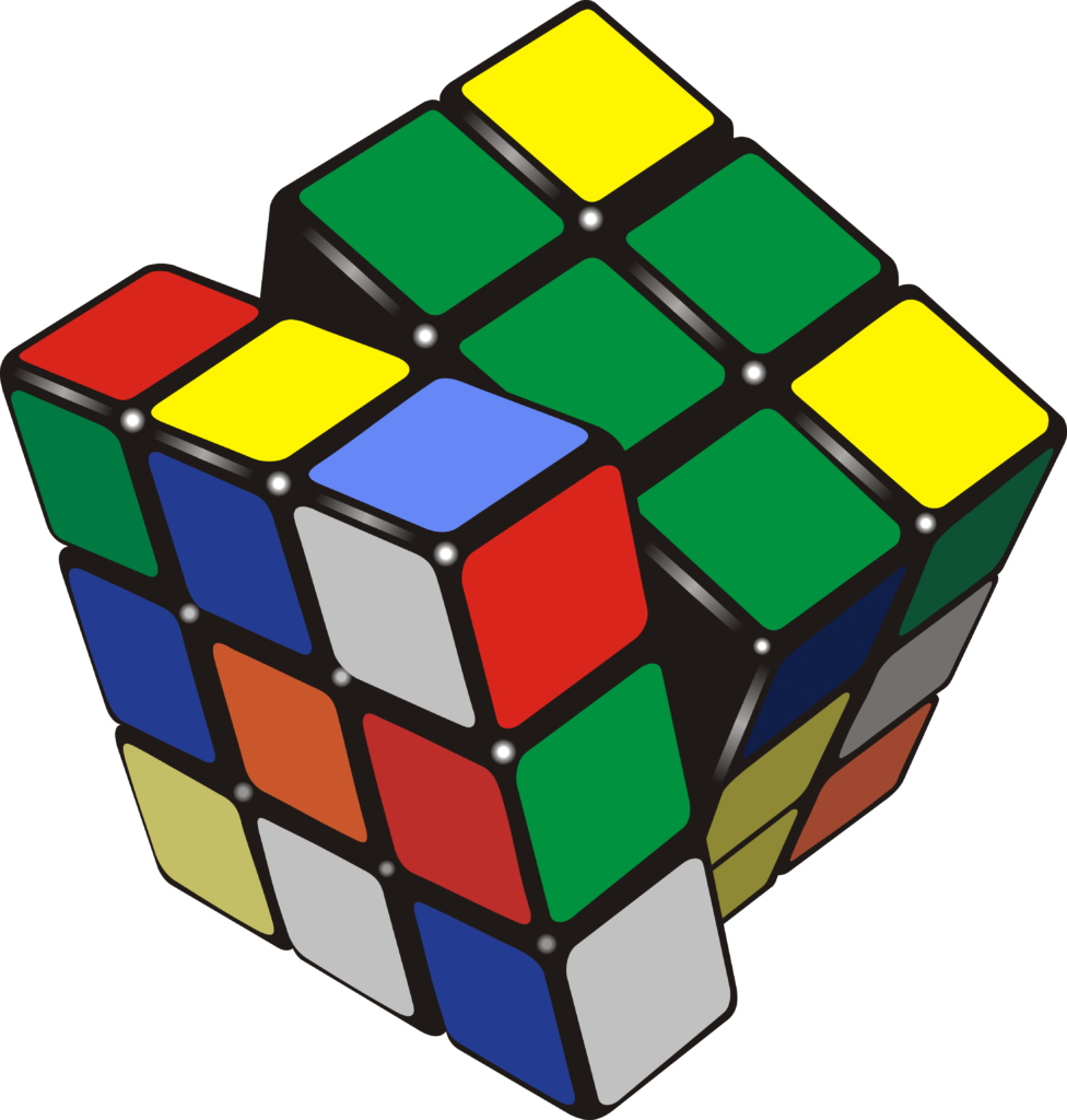 Download Free Rubik S Cube Grafik Von Fray06100 Creative Fabrica for Cricut Explore, Silhouette and other cutting machines.