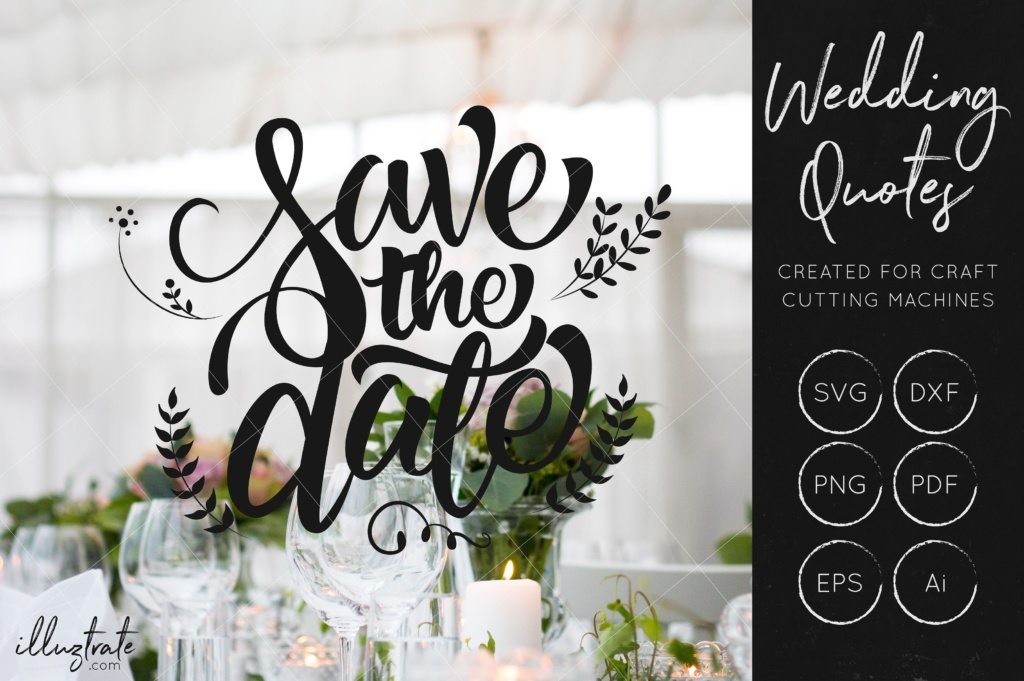 Download Free Save The Date Svg Cut File Graphic By Illuztrate Creative Fabrica for Cricut Explore, Silhouette and other cutting machines.
