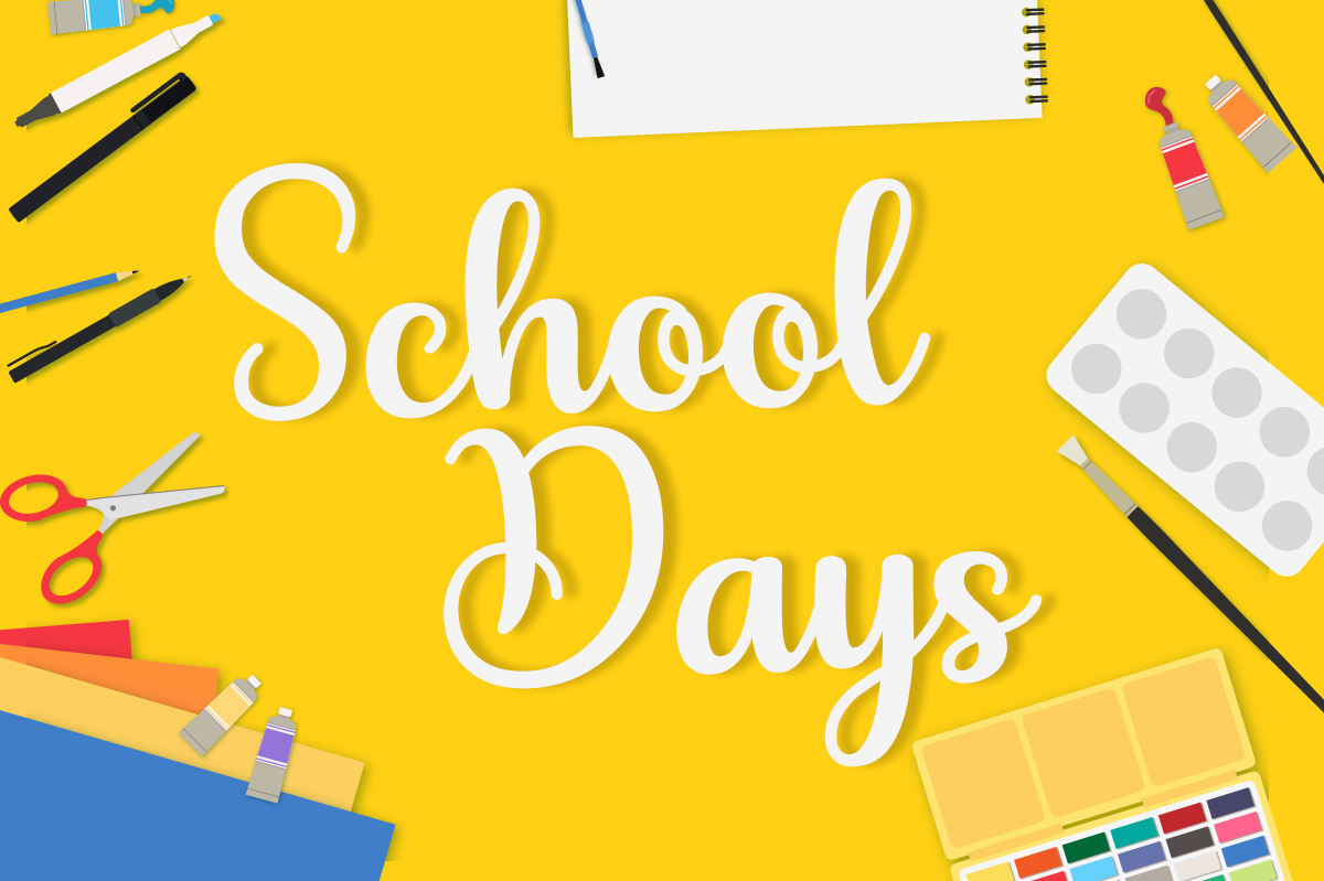 Print on Demand: School Days Script & Handwritten Font By Silhouette America, Inc.