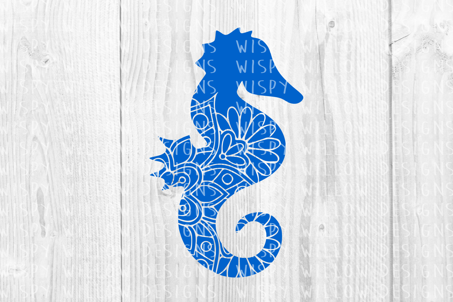 Seahorse Sea Horse Animal Mandala Graphic Crafts By WispyWillowDesigns