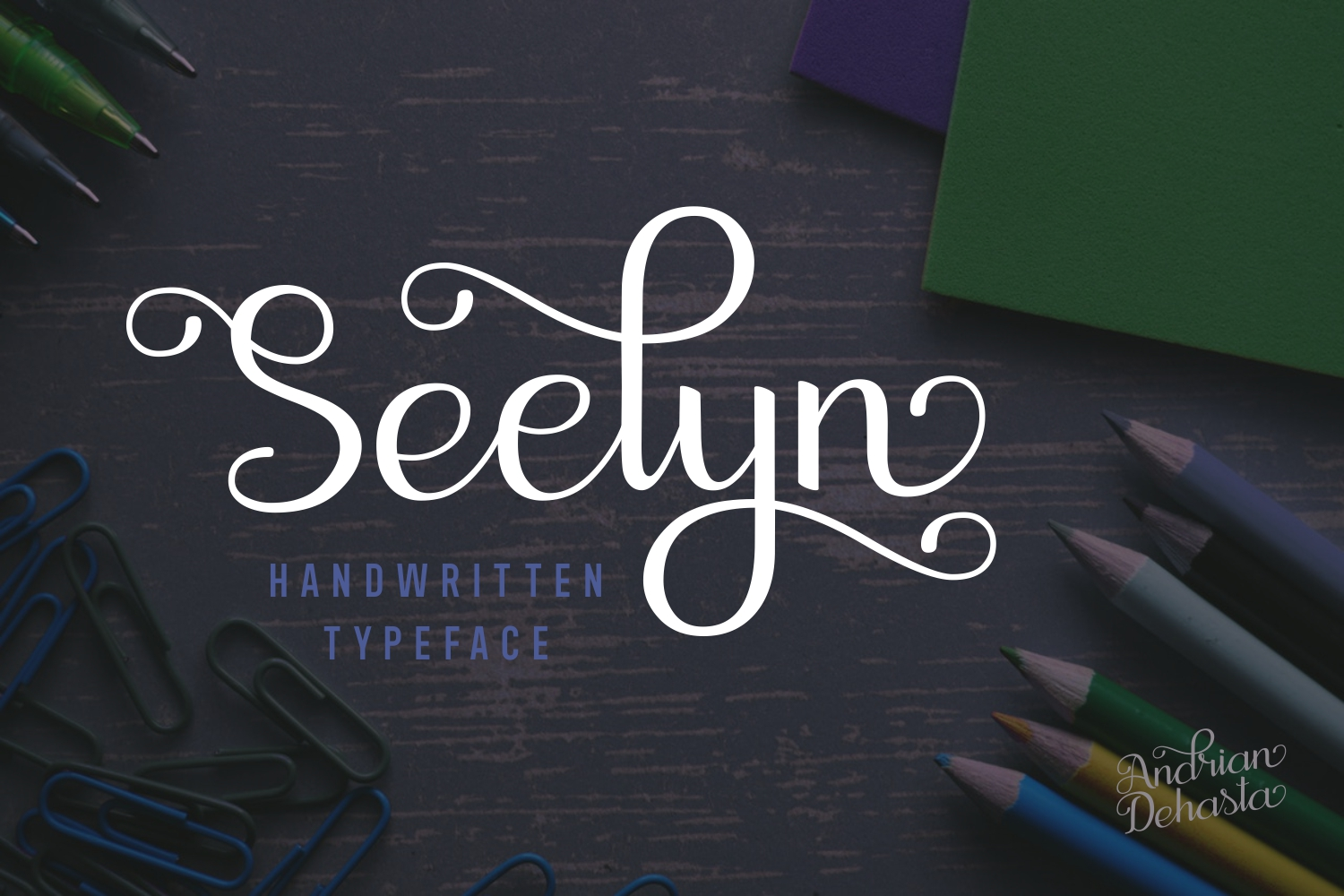 Print on Demand: Seelyn Script & Handwritten Font By Andrian Dehasta