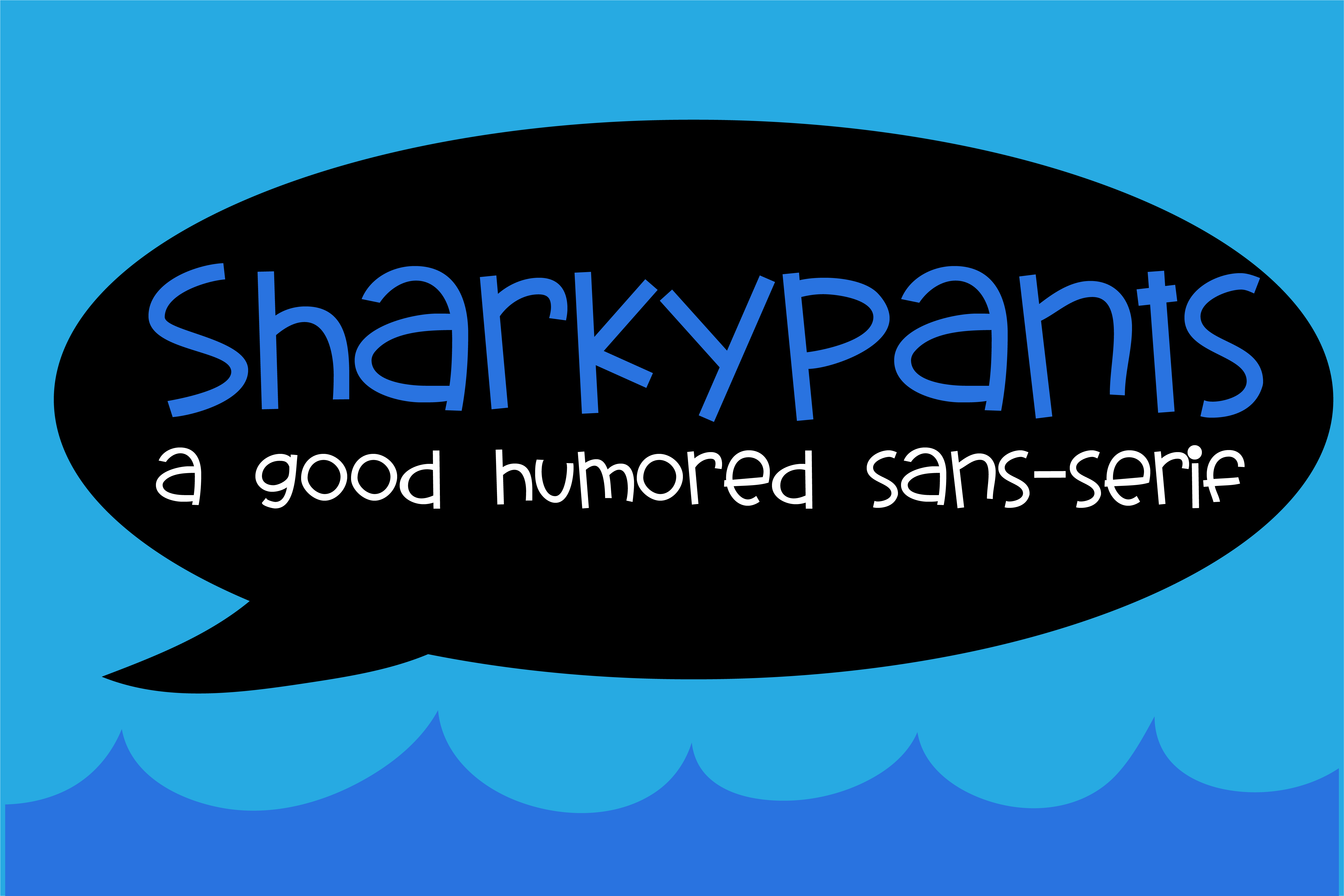 Print on Demand: Sharky Pants Display Font By Illustration Ink