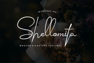 Shellomita Script & Handwritten Font By Bluestudio
