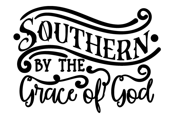 Download Free Southern By The Grace Of God Svg Cut File By Creative Fabrica for Cricut Explore, Silhouette and other cutting machines.
