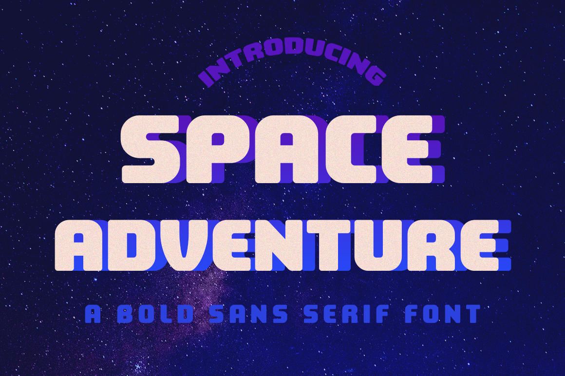 Print on Demand: Space Adventure Sans Serif Font By Silhouette America, Inc.