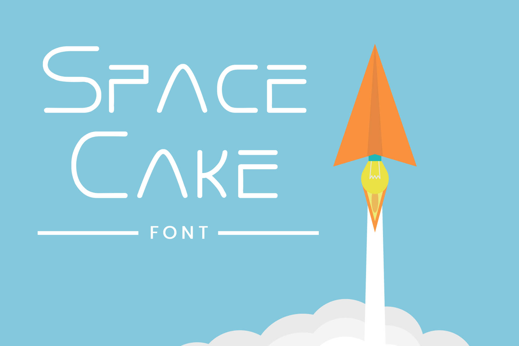 Print on Demand: Space Cake Decorative Font By gumacreative