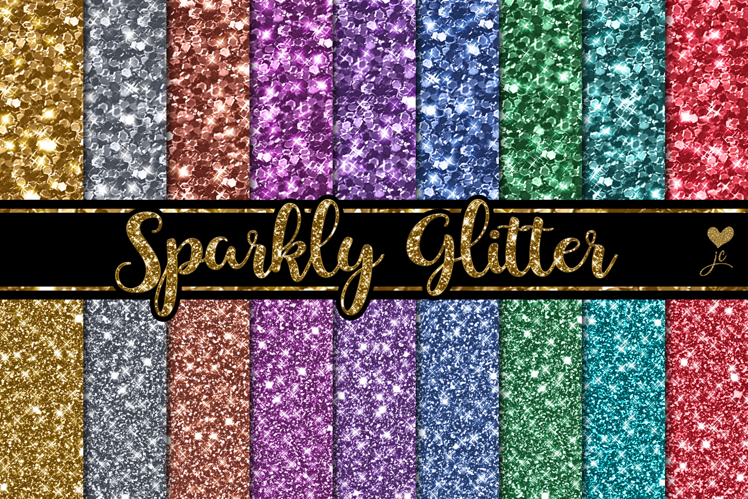 Print on Demand: Sparkly Glitter Graphic Textures By JulieCampbellDesigns