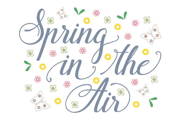 Spring in the Air Primavera Archivo de Corte Craft Por Creative Fabrica Crafts