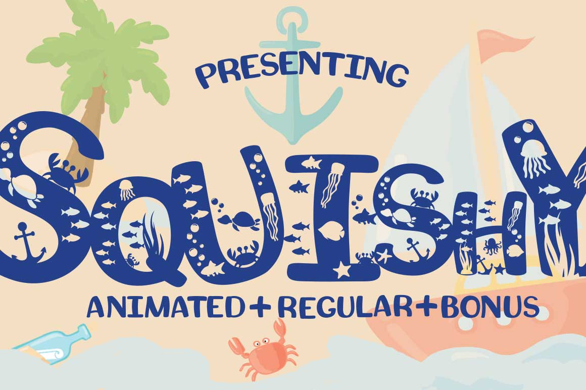 Print on Demand: Squishy Display Font By Anastasia Feya