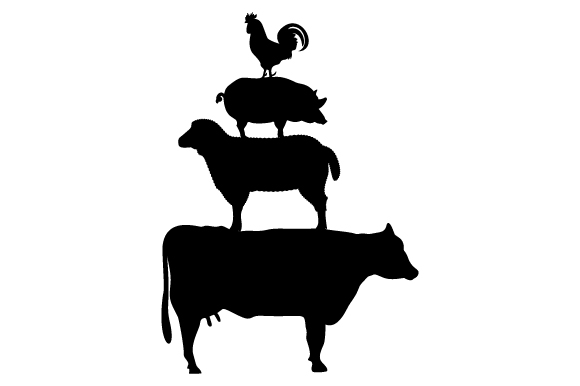 Download Free Stacked Farm Animals Svg Cut File By Creative Fabrica Crafts for Cricut Explore, Silhouette and other cutting machines.
