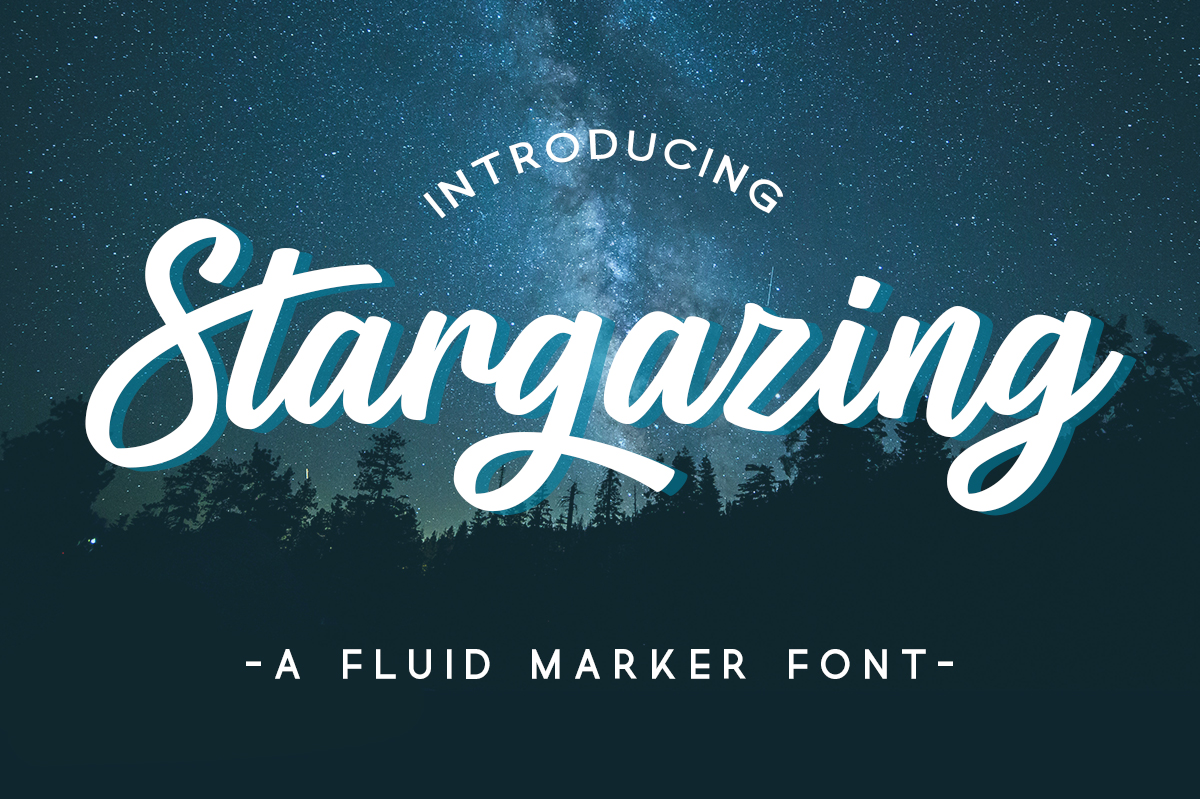 Print on Demand: Stargazing Script & Handwritten Font By Silhouette America, Inc.