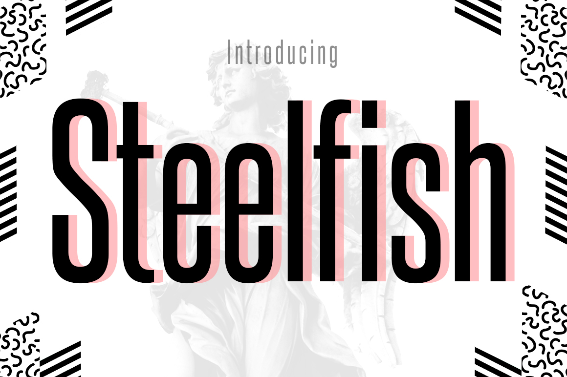 Print on Demand: Steelfish Sans Serif Font By Typodermic