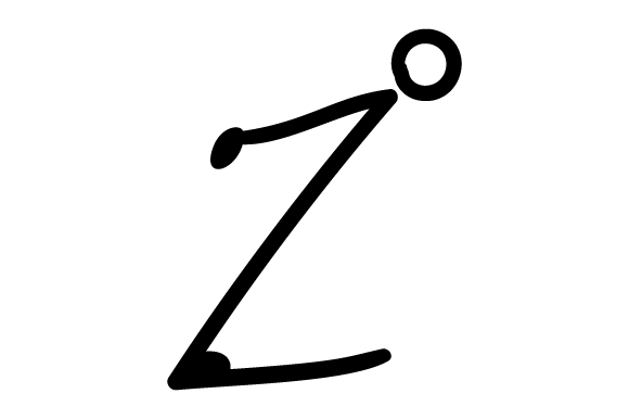 Stick Figures Alphabet Z