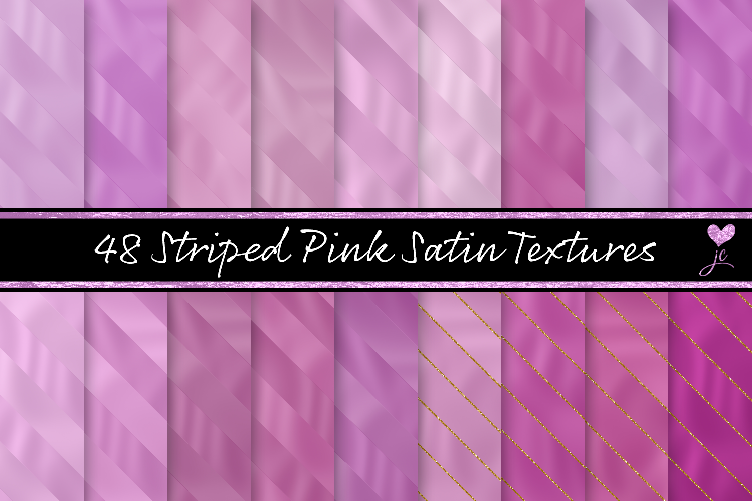 Print on Demand: Striped Pink Satin Textures Graphic Textures By JulieCampbellDesigns