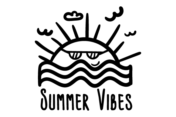 Download Free Summer Vibes Svg Cut File By Creative Fabrica Crafts Creative for Cricut Explore, Silhouette and other cutting machines.