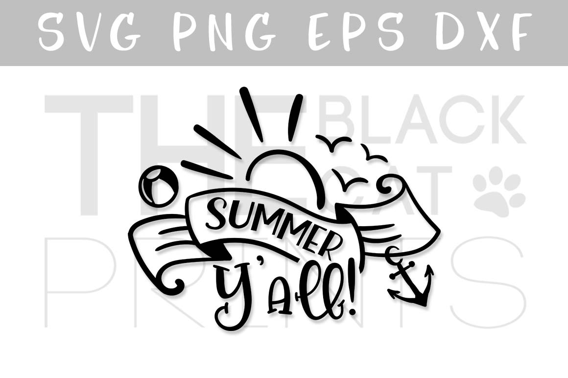 Download Free Summer Yall Graphic By Theblackcatprints Creative Fabrica for Cricut Explore, Silhouette and other cutting machines.