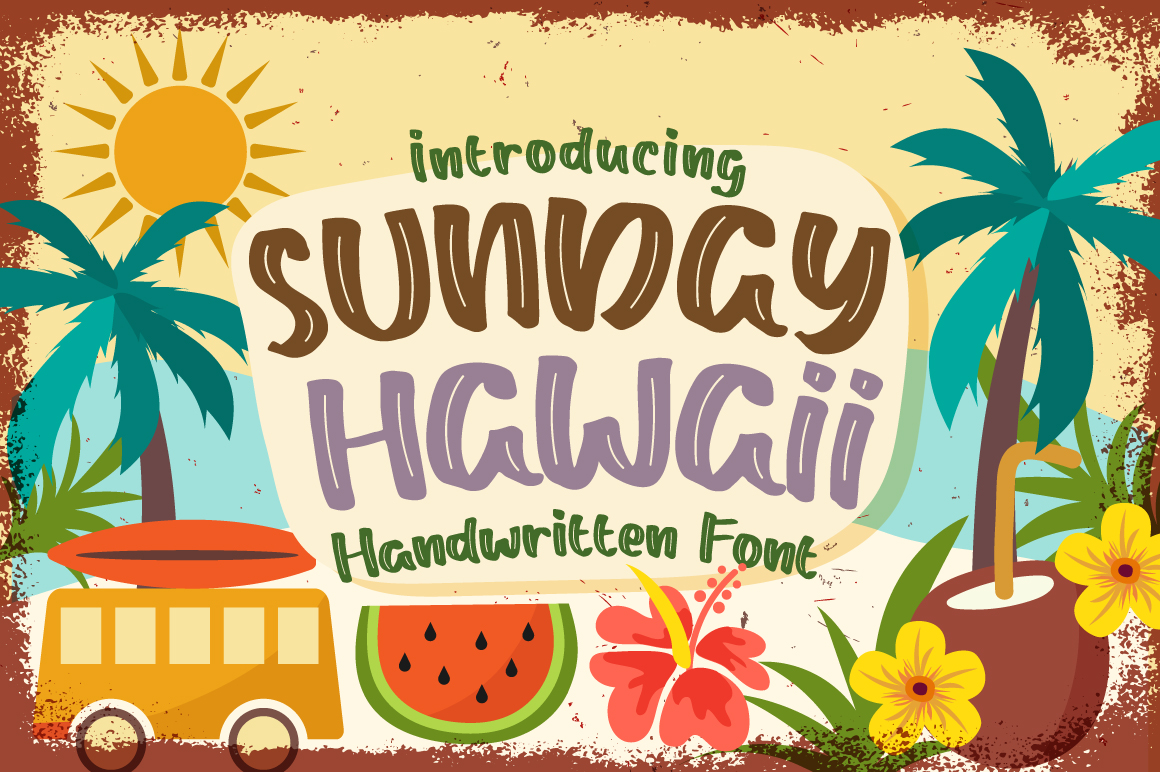 Print on Demand: Sunday Hawaii Display Font By Caoca Studios