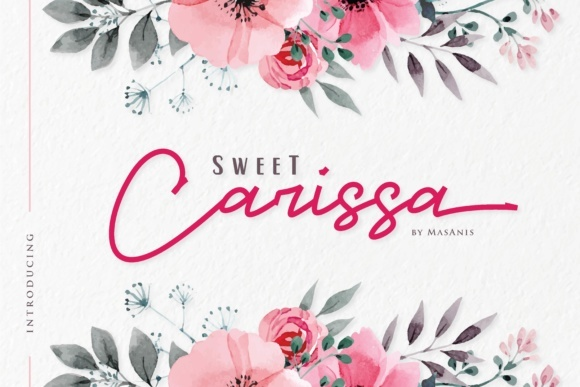 Print on Demand: Sweet Carissa Script & Handwritten Font By Mas Anis