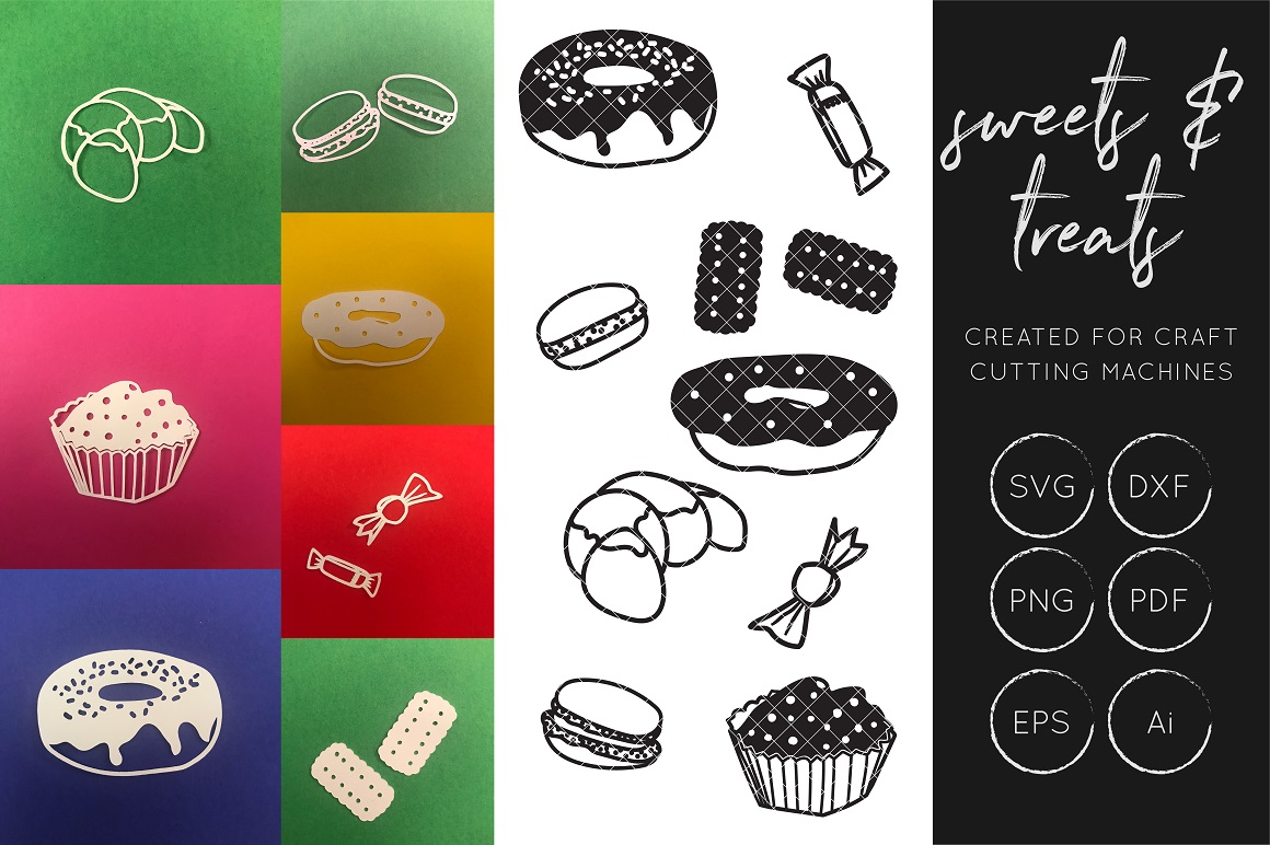 Print on Demand: Sweets and Treats SVG - Cake Collection Graphic Crafts By illuztrate