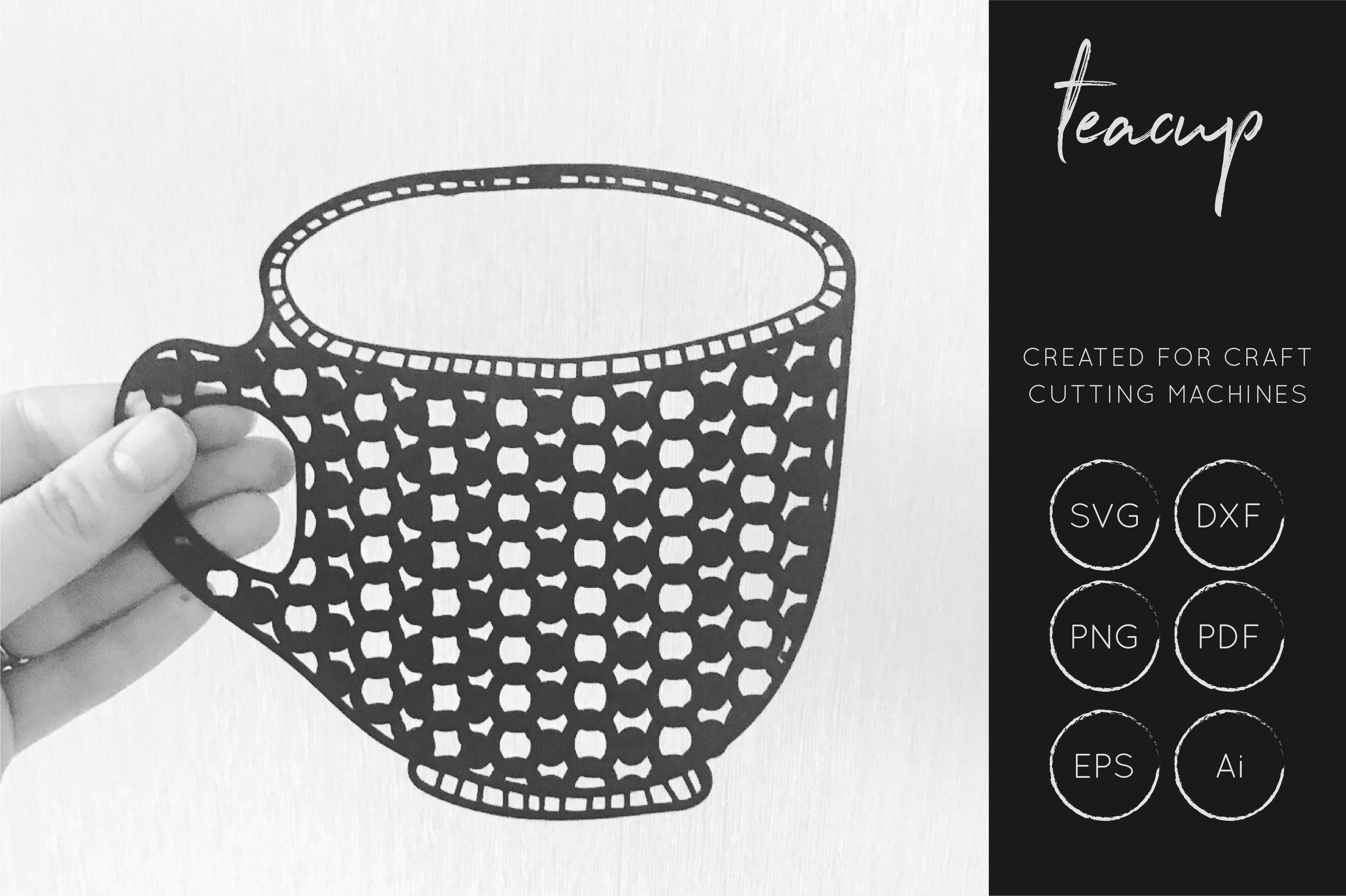 Download Free Tea Cup Graphic By Illuztrate Creative Fabrica for Cricut Explore, Silhouette and other cutting machines.