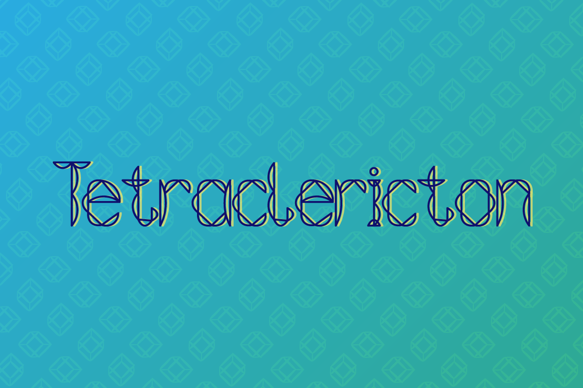 Tetraclericton Decorative Font By viper78