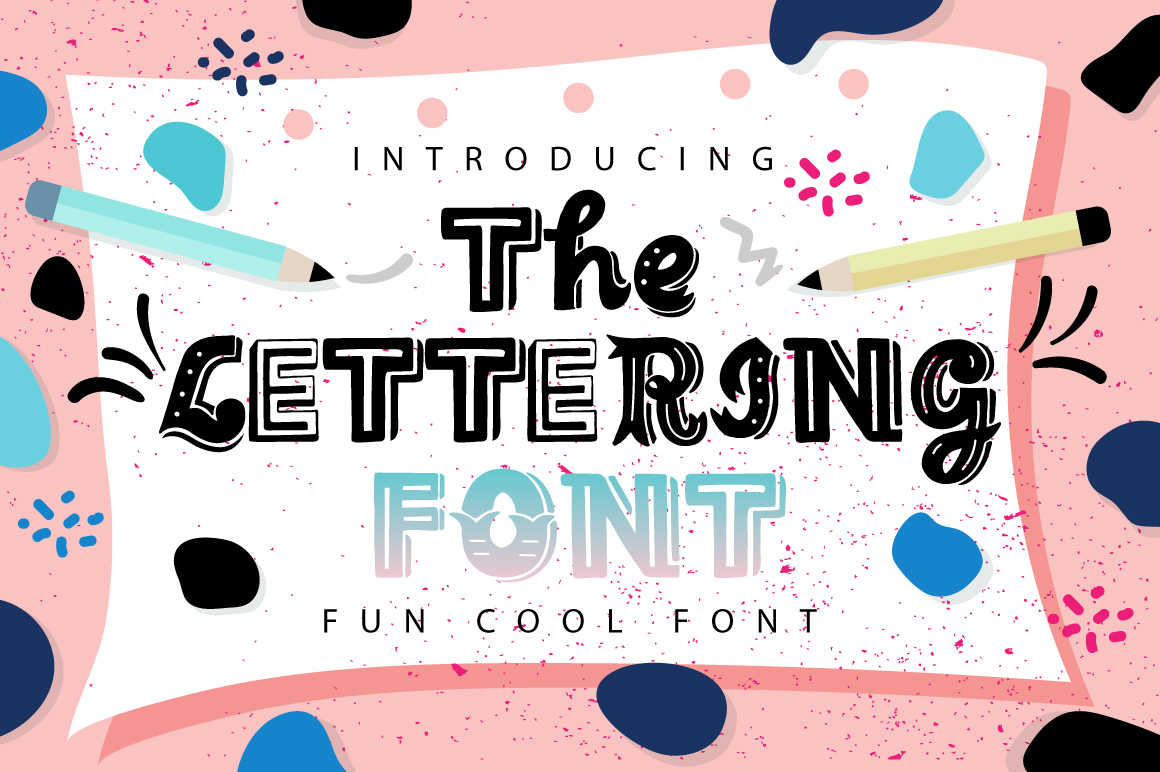 Print on Demand: The Lettering Font Display Font By Caoca Studios